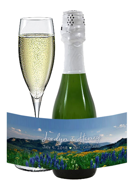 (sku506) Colorado Rocky Mountain | mini wine bottle labels | mini champagne stickers - Best Welcome Bags