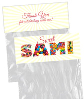 (sku689) goody bag topper | candy bag topper | candy labels | party favor bag label - Best Welcome Bags