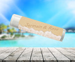 (sku398) lip balm tube label | names in sand balm sticker | party favor | Chapstick wrapper - Best Welcome Bags
