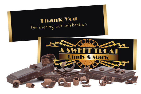 (sku265) Great Gatsby Hershey bar wrapper | chocolate bar label | candy sticker - Best Welcome Bags