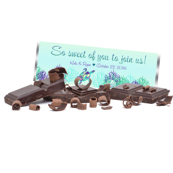 custom personalized sea turtle Hershey Chocolate bar wrapper