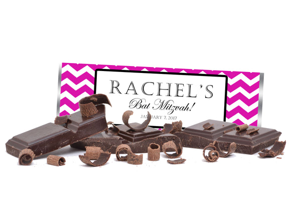 (sku720) Any color chevron | Hershey chocolate bar wrapper | candy bar label - Best Welcome Bags