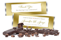 (sku131a) Gold border Hershey chocolate bar wrapper | candy bar label | Hershey bar - Best Welcome Bags