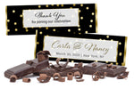 (sku205) Gold dot on black | Hershey chocolate bar wrapper | custom candy bar label - Best Welcome Bags