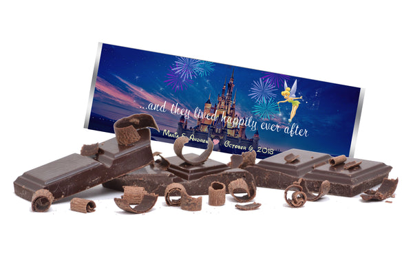 (sku625) Disney Castle | Hershey bar label | chocolate candy wrapper | Disney World sticker - Best Welcome Bags