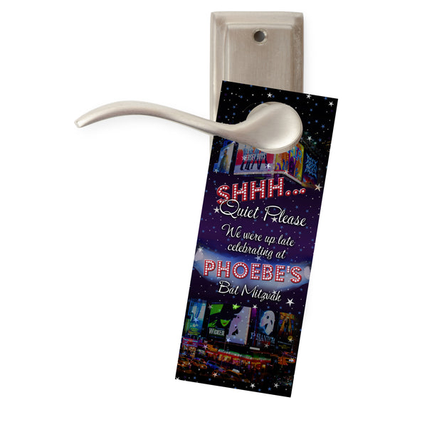 (sku709) Broadway do-not-disturb door hangers | Broadway birthday theme | party favors - Best Welcome Bags