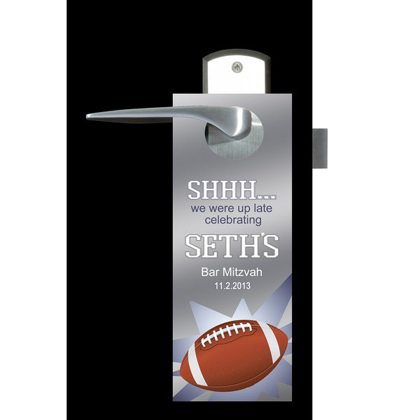 (sku675) football do not disturb sign | football door hanger | football party favor - Best Welcome Bags