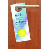 tennis do not disturb door hanger party favor birthday bat mitzvah sweet 16