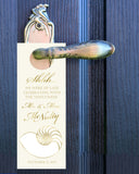 gold nautilus seashell do not disturb wedding door hanger