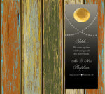 rustic string of lights wedding door hanger hotel do not disturb
