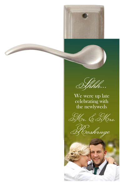 (sku157) Photo do not disturb sign | logo door hangers | wedding favor | hotel guest gift - Best Welcome Bags