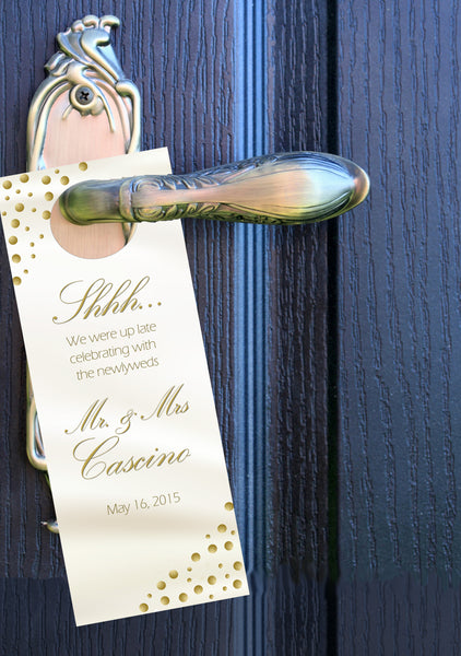 Any color dot do not disturb sign | hotel door hanger | party favors - Best Welcome Bags