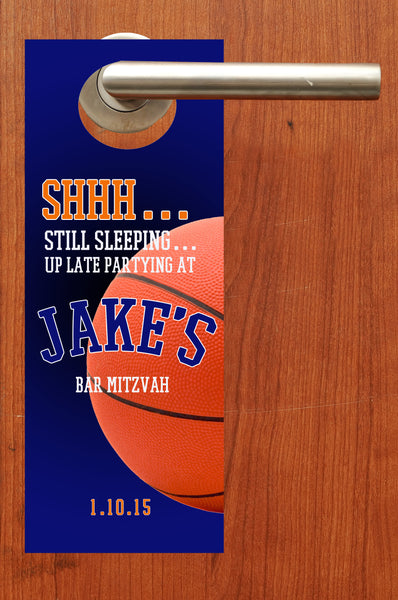 (sku682) Basketball do not disturb door hanger | basketball party favor - Best Welcome Bags