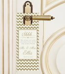 Any color custom chevron do not disturb door hangers | hotel guest favors - Best Welcome Bags