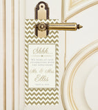 Any color chevron do-not-disturb hotel bag wedding door hanger