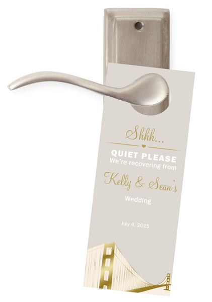 (sku493) San Francisco | do not disturb sign | wedding door hangers | party favor - Best Welcome Bags
