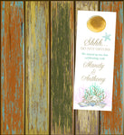 (sku387) Gold sea coral | do not disturb sign | beach destination wedding | door hanger - Best Welcome Bags