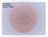 (sku681a) basketball note card | thank you card | printed basketball stationery - Best Welcome Bags
