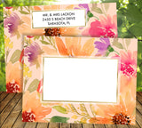 (sku076) Autumn floral wedding invitation | printed itinerary | welcome note | fall program - Best Welcome Bags