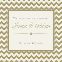 (sku190) Any color chevron welcome bag labels | Gable box stickers | party bag labels - Best Welcome Bags