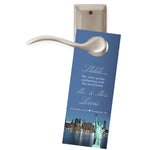 choose from 4 NY New York do not disturb wedding door hanger
