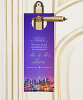 (sku511) Do not disturb door hangers New York City wedding favors, hotel guests hospitality gift bags or box, welcome bag32