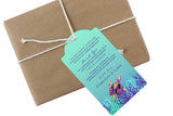 sea turtle hang tag | welcome bag hang tag | beach party bag tag
