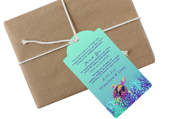 (sku441) sea turtle hang tags | Gift tags | welcome bag gift tag | beach party favor tag - Best Welcome Bags
