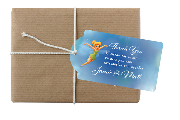 (sku658) Tinkerbell gift hang tag | goody bag tag | Disney wedding favor tag - Best Welcome Bags
