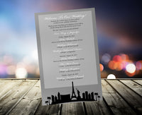 (sku535) Las Vegas printed stationery | gold or silver | party invitation | wedding itinerary