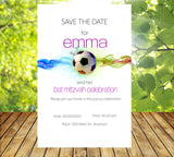 (sku688) printed soccer stationery | soccer birthday invitation | team event | bar mitzvah - Best Welcome Bags