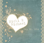 rustic sage n lace wedding welcome bag label 4 hotel guest favor