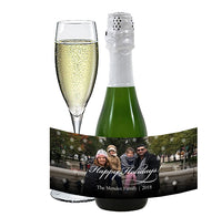 (sku159a) photo or logo | mini wine bottle stickers | champagne bottle labels - Best Welcome Bags