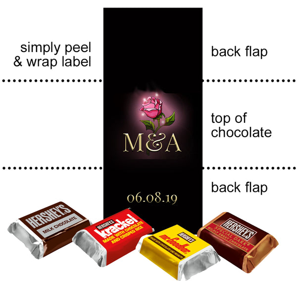 (sku618b) Beauty and The Beast | mini Hershey chocolate wrapper | Mini Hershey labels - Best Welcome Bags