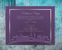 (sku546) Las Vegas | printed note card | any color | party invitation | welcome note - Best Welcome Bags