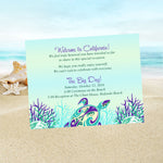 (sku440) sea turtle note card | beach wedding welcome note | thank-you card | itinerary - Best Welcome Bags