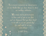 rustic sage n lace welcome note 4 wedding welcome bag, brunch invite, thank you