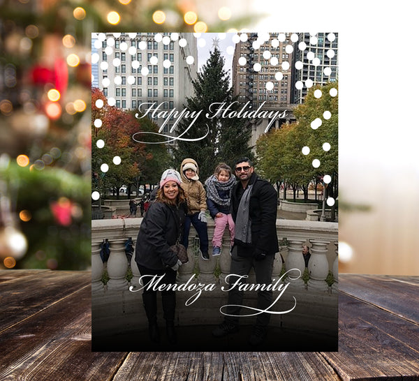 (sku157a) photo flat note card | Holiday greeting card | logo custom stationery - Best Welcome Bags