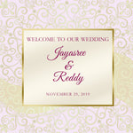 (sku268) Indian Hindi wedding welcome bag labels | Gable box stickers | assorted colors - Best Welcome Bags