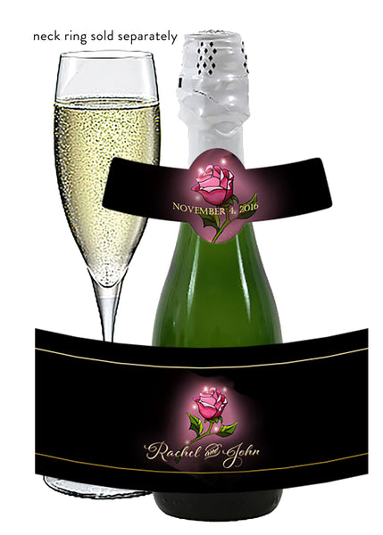 (sku617) Beauty and the Beast mini wine bottle label | mini champagne bottle sticker | custom Disney - Best Welcome Bags