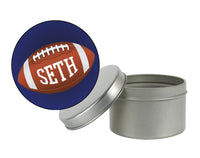 (sku676) custom round football labels | Best Welcome Bags