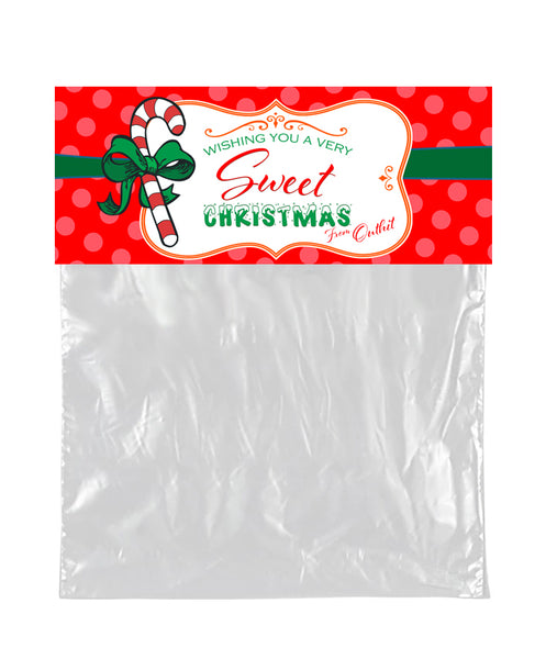 (sku020) Bag Topper | holiday labels | Christmas goody bags | party favors - Best Welcome Bags