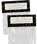 (sku206) Bag Topper | gold dot label | goody bag | party favor | wedding survival kit - Best Welcome Bags