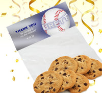 (sku671a) goody bag topper | baseball team snack bag labels | party bag stickers - Best Welcome Bags
