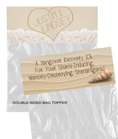 (sku399) Goody Bag Topper | writing in sand labels | party favors | wedding survival kit - Best Welcome Bags