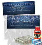 (sku691b) survival kit topper | goody bag label | denim and diamonds favor bag sticker - Best Welcome Bags