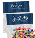 (sku773) Any color stripe | goody bag topper | party favor bag | candy bag label | snack sticker - Best Welcome Bags