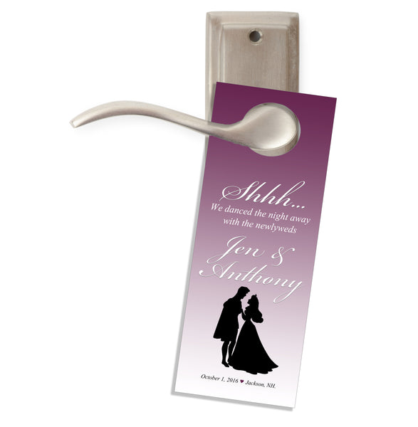 (sku669) Cinderella Do not disturb door hanger | wedding favor | hotel guest gift - Best Welcome Bags