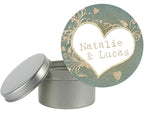(sku245) Custom rustic vintage sage and lace round label | goody bag sticker | lollipop - Best Welcome Bags