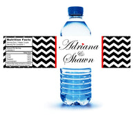 (sku198) custom printed any color chevron water bottle label
